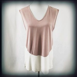 Anthropologie COA Color Block Tank Blouse